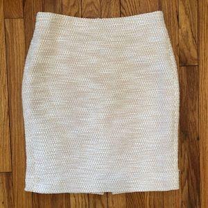J. Crew spring tweed pencil skirt
